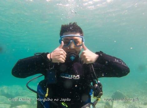Experimentando o Mergulho direto do Japão