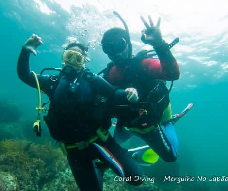 Superando o medo e fazendo mergulho gratis no Japão