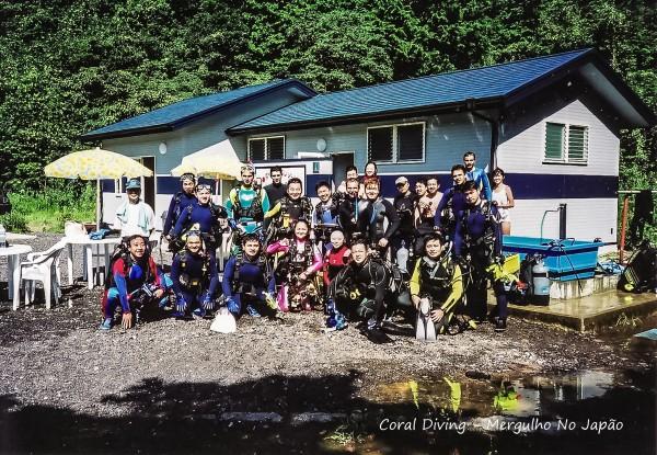 mergulhadores no  japao