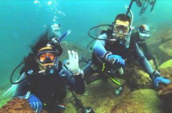 curso de mergulho da Paula e Ailton