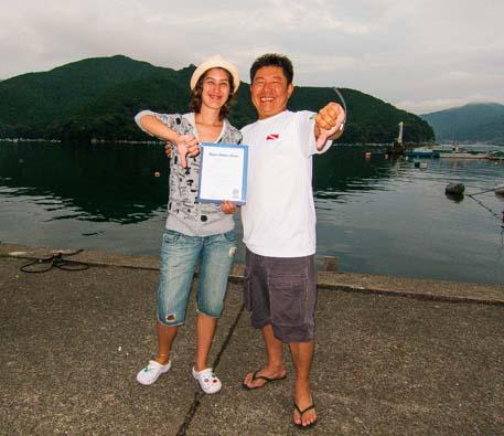 curso de mergulho no japao ketory