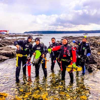 Mergulho no Japão no Revellion